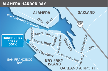 Harbor Bay ferry terminal map