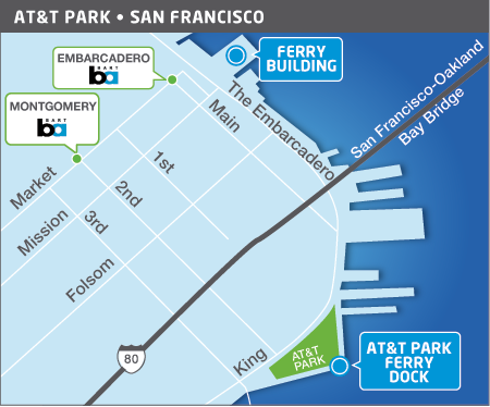 AT&T Park area transit map