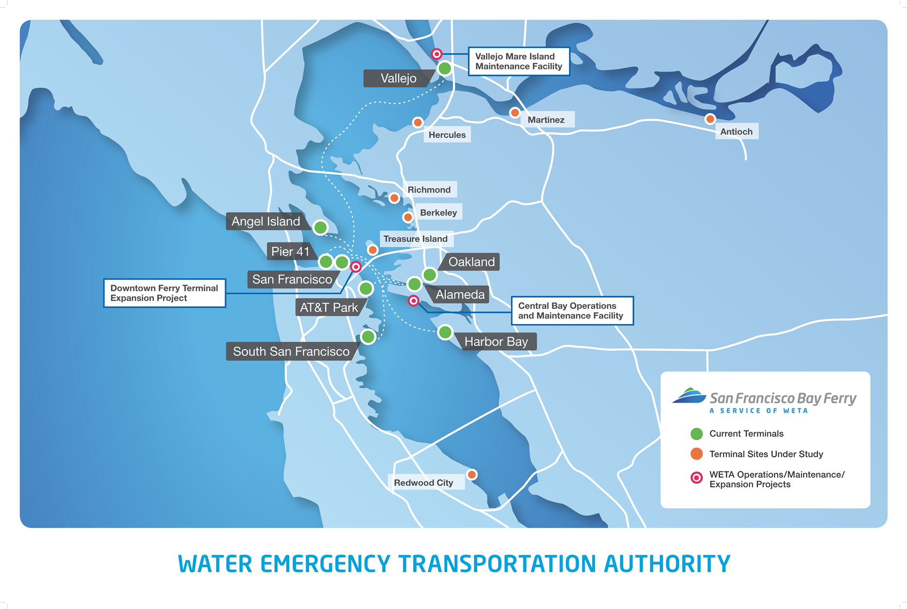 Map of Proposed Routes San Francisco Bay Ferry