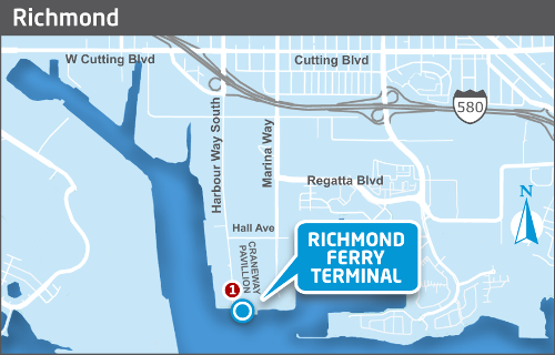 Richmond ferry terminal map