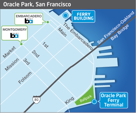 Oracle Park terminal map
