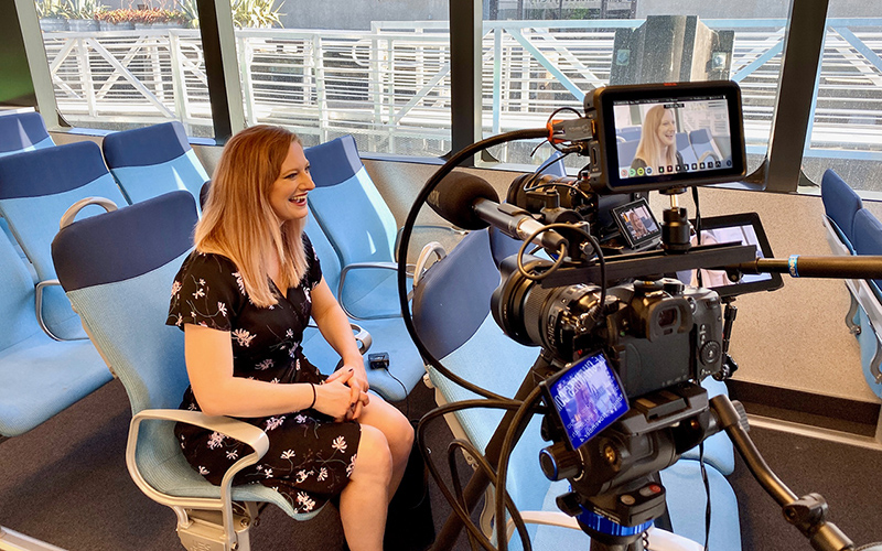 Behind the scenes with an interview with a ferry passenger